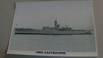 1955 HMS Eastbourne Frigate warship framed picture